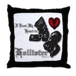 Biker Valentine Throw Pillow