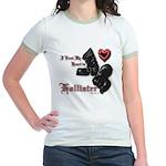 Biker Valentine Jr. Ringer T-Shirt