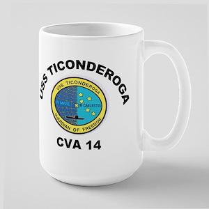 USS Ticonderoga CV 14 Large Mug