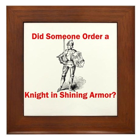 Did Someone Order a Knight Framed Tile