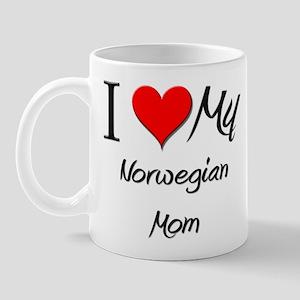 I Love My Norwegian Mom Mug