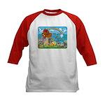 Noah's Ark Animal Kids Baseball Jersey