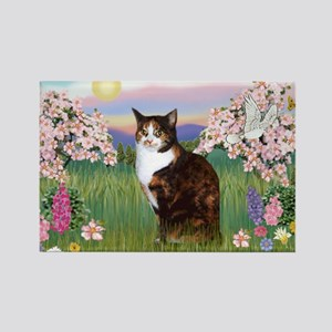 Blossoms / Calico cat Rectangle Magnet