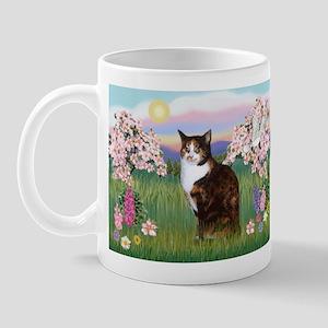 Blossoms / Calico cat Mug