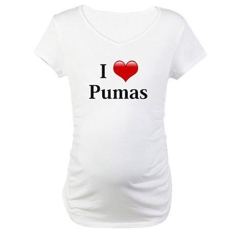 I Love Pumas Maternity T-Shirt