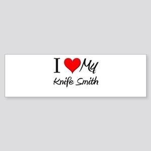 I Heart My Knife Smith Bumper Sticker