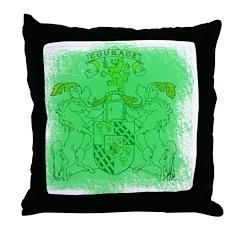 Courage Heraldic Crest Throw Pillow