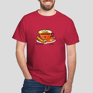 Coffee Biscotti Love Dark T-Shirt