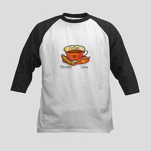 Coffee Biscotti Love Kids Baseball Jersey