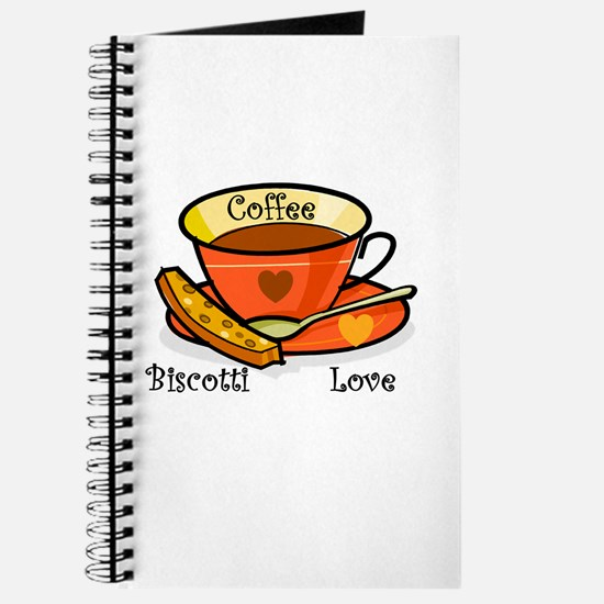 Coffee Biscotti Love Journal
