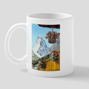Matterhorn with flowers Mug
