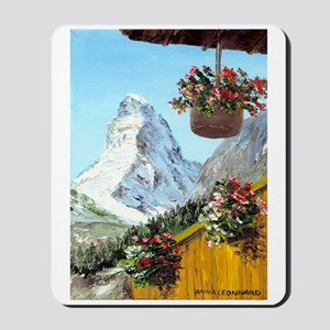 Matterhorn with flowers Mousepad