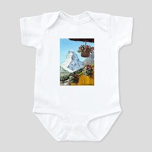 Matterhorn with flowers Infant Bodysuit