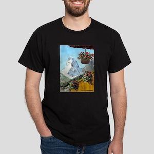 Matterhorn with flowers Dark T-Shirt