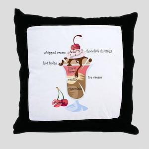 Anatomy of a sundae Throw Pillow