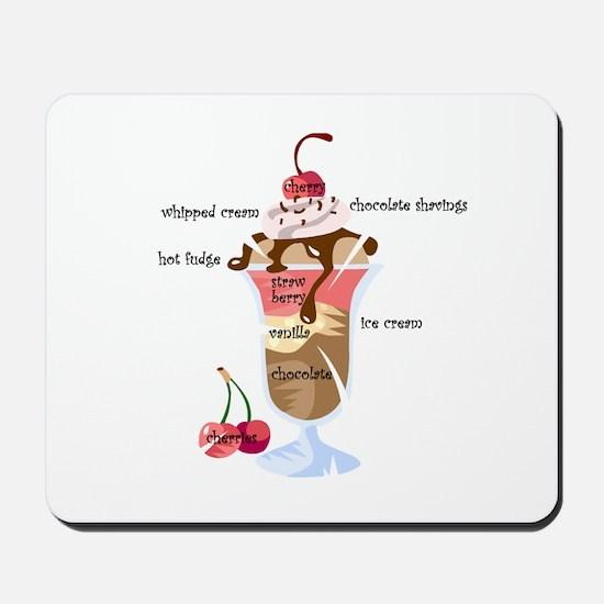Anatomy of a sundae Mousepad