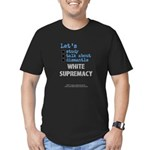 Lets Std Wht Suprmcy1 - Fitted T-Shirt (m)