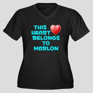This Heart: Marlon (E) Women's Plus Size V-Neck Da