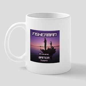 """""""Fisherman Playing Writer Today"""" Mug"""