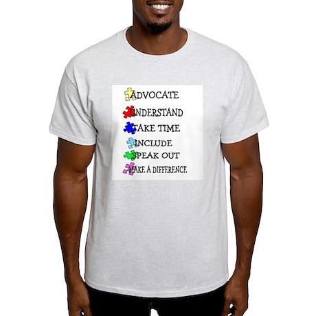Advocate, Understand, Make a Light T-Shirt
