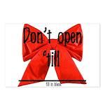 Dont Open Til ______ Postcards (Package of 8)