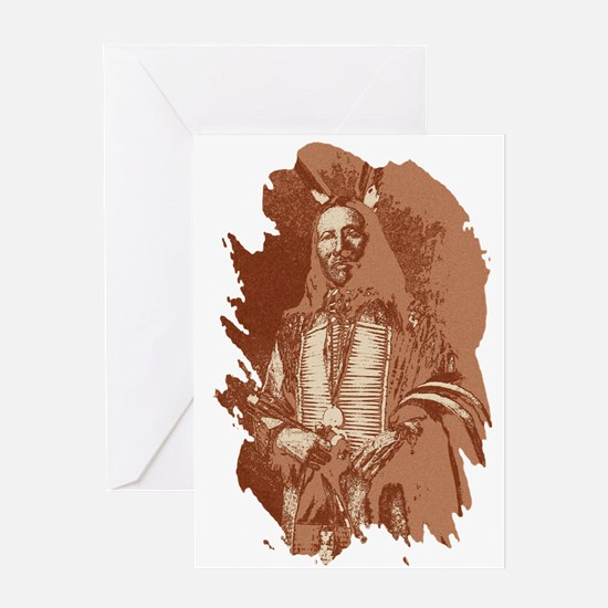 Indian Brave Greeting Card