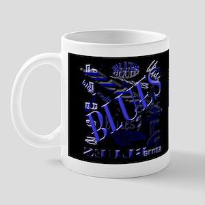 Blues on Blue Dark Mug