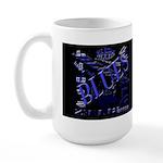 Blues on Blue Dark Large Mug