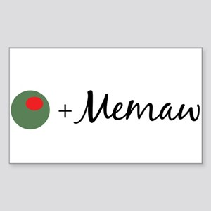 Olive Memaw Rectangle Sticker