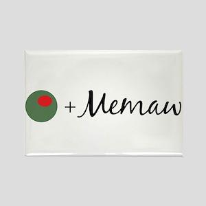 Olive Memaw Rectangle Magnet