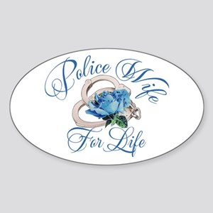 Police Wife For Life Oval Sticker