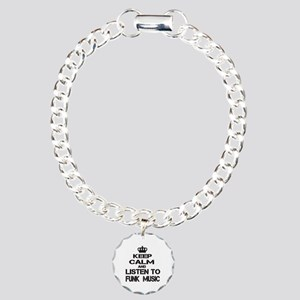 Keep Calm And Listen to Charm Bracelet, One Charm
