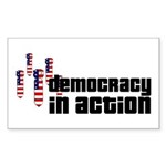 Democracy in Action Rectangle Sticker