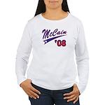 McCain '08 Swoosh Women's Long Sleeve T-Shirt