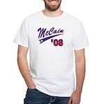 McCain '08 Swoosh White T-Shirt