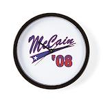 McCain '08 Swoosh Wall Clock