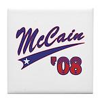 McCain '08 Swoosh Tile Coaster