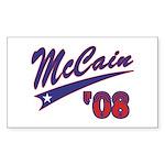 McCain '08 Swoosh Rectangle Sticker