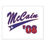 McCain '08 Swoosh Small Poster