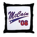 McCain '08 Swoosh Throw Pillow