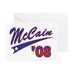 McCain '08 Swoosh Greeting Cards (Pk of 10)