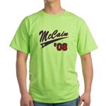 McCain '08 Swoosh Green T-Shirt