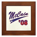 McCain '08 Swoosh Framed Tile