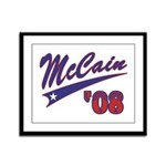 McCain '08 Swoosh Framed Panel Print