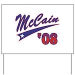 McCain '08 Swoosh Yard Sign
