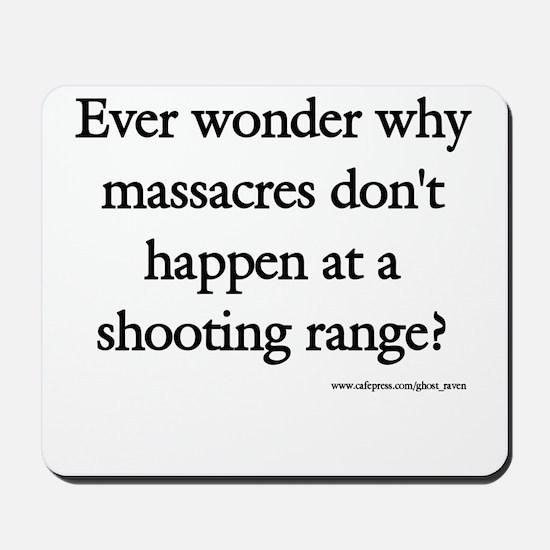 Guns & Massacres Mousepad