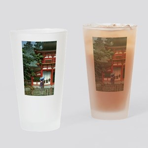 Japanese Classic Asia Temple Rain A Drinking Glass