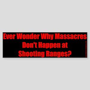 Guns & Massacres Bumper Sticker