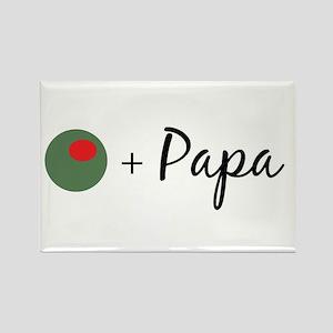 Olive Papa Rectangle Magnet