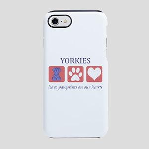 Yorkie Pawprints iPhone 8/7 Tough Case
